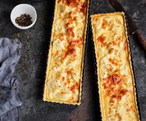 Tarte de couve-flor e queijo