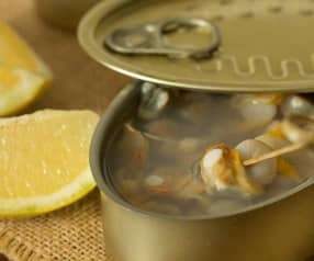 Berberechos al natural con limón