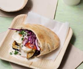 Israelische vegetarische Pitas (sabich)