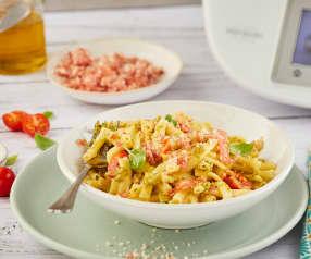 One pot pasta aux tomates cerise et pesto