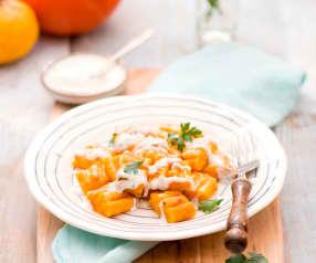 Gnocchi dyniowe z sosem ziołowo-chrzanowym