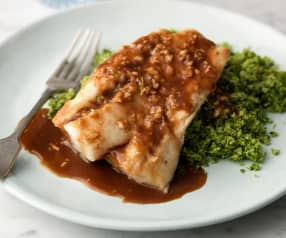 Miso Cod with Broccoli Rice