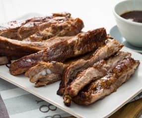 Costillas de cerdo con glaseado balsámico al chocolate
