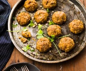 Boulettes automnales butternut-châtaigne-champignon