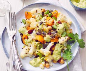 Lauwarmer Blumenkohl-Kürbis-Salat
