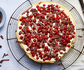Tarte fine aux groseilles et crème biscuitée