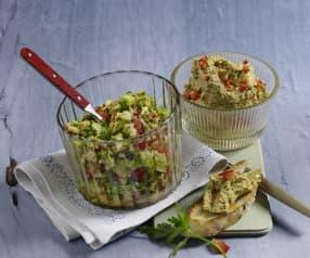 Brokkolisalat / Brokkoli-Feta-Aufstrich