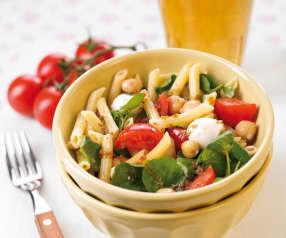 Salada de massa e grão
