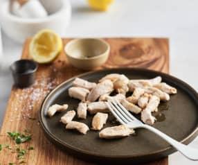 Tiras de pechuga de pollo doradas