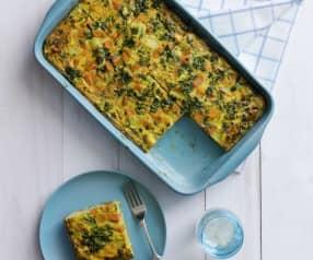 Feta, spinach and potato frittata