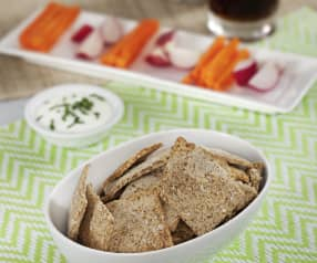 Crackers de salvado de avena