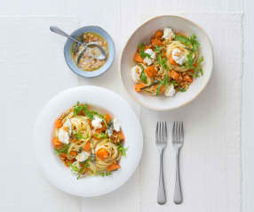 Sweet potato pasta with burnt sage butter