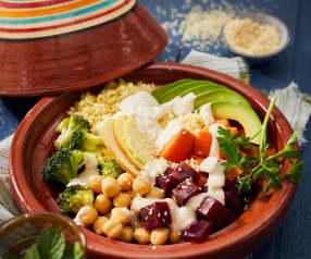 Couscous tahini bowl