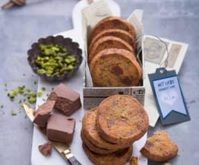 Biscotti al burro, pistacchi, torrone e marzapane