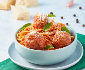Espaguetti con albóndigas