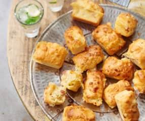 Minicakes au fromage et aux lardons