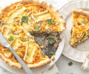 Quiche endive, moutarde et camembert