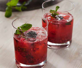 Blackberry and Raspberry Vodka Tonic