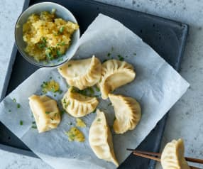 Dumplings et dip à l'ananas