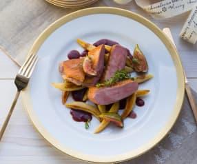 Rotwein-Ente mit Feigen