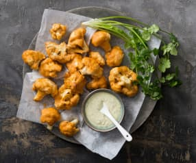 Cauliflower buffalo bites