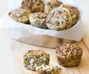 Ham and cheese quinoa muffins