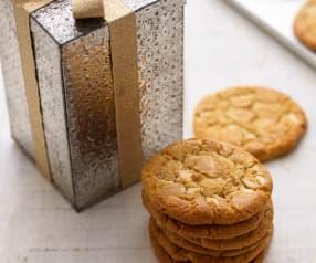 Weiße Schokoladen-Cookies