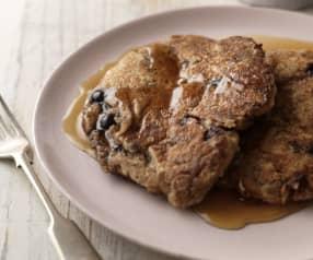 Walnut and Blueberry Bran Pancakes