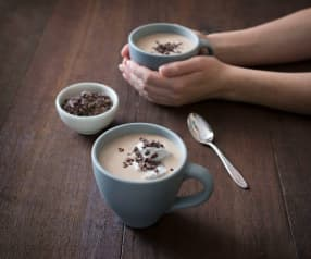 Coconut and maca hot chocolate