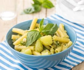 Insalata di pasta alle erbe con fagiolini e patate