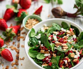Salada de beterraba e morango