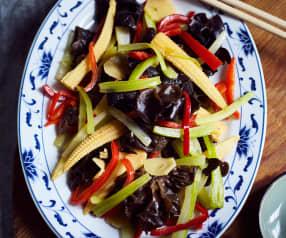 Bunte Gemüseplatte  (炒五色蔬菜)
