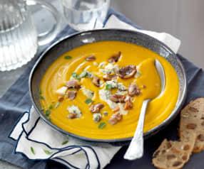 Soupe de châtaigne au bleu