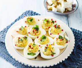 Gefüllte Eier mit Feta (Avgha vrasta me jemisi)