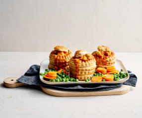 Brätchügeli-Pastetli mit Erbsli und Rüebli