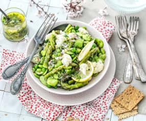 Salade aux légumes de printemps