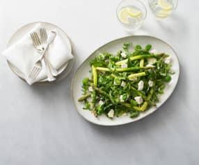 Asparagus and broad bean salad