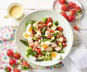 Caesar Salad mit Pfeffer-Erdbeeren