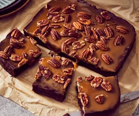 Brownies caramel beurre salé et noix de pécan