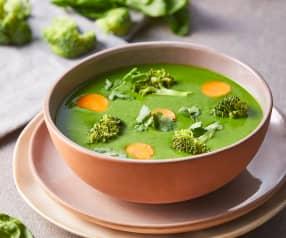 Crema vegana de cilantro y espinacas