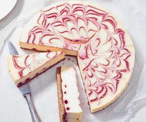 Himbeer-Swirl-Cheesecake