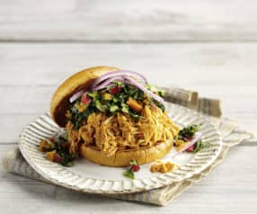 BBQ Pulled Jackfruit with Coleslaw