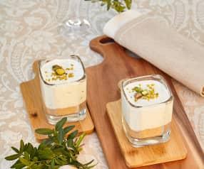 Mini cheesecake salate al basilico