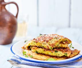 Zucchini-Halloumi-Omelette