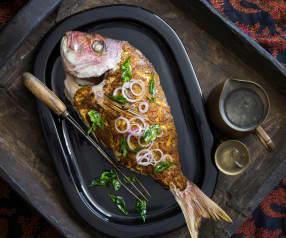 Baked masala fish