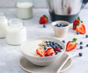 Jogurt naturalny w naczyniu miksującym