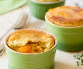 Lentil and pumpkin pot pies