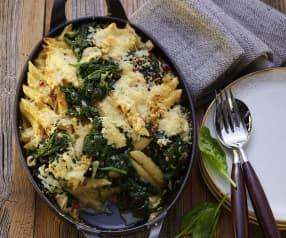 Pasta Auflauf mit Spinat