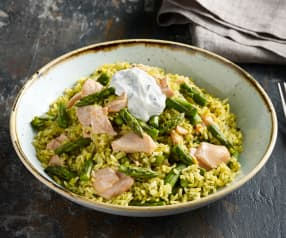 Salmon and Asparagus Rice Salad