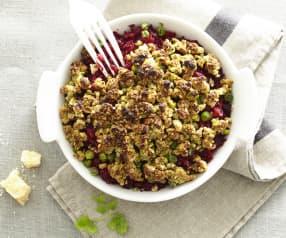 Crumble de légumes, pistaches et noisettes